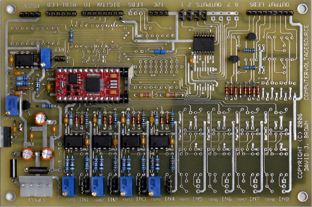 cvs ribbon here is the interface for the kurzweil pc2srib ribbon and the offset control and the completed pcb i ve added the ribbon diode in one of the unused out8
