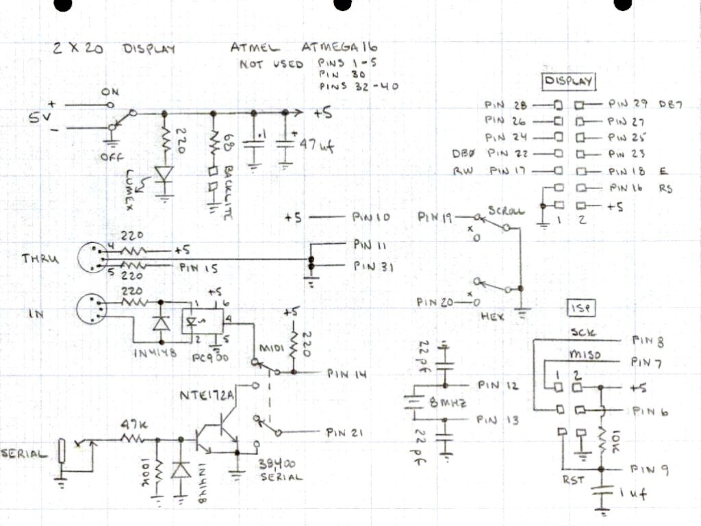 Midi Cable Schematic Wire Diagram Diagrams Note Display Block And U2022 Pinout